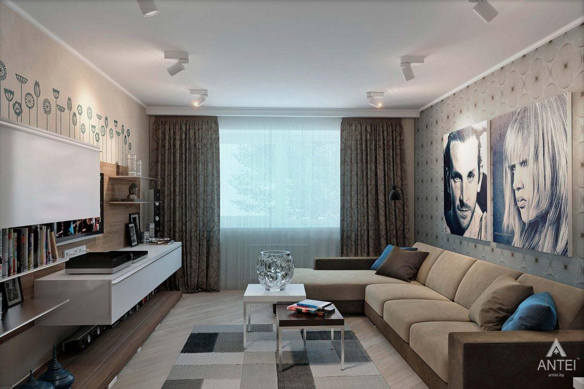 Дизайн интерьера квартиры в России, г. Клинцы - гостиная фото №3