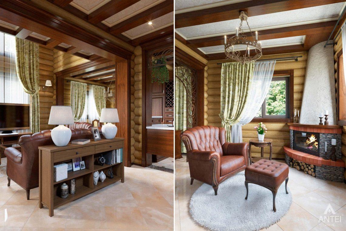 Дизайн интерьера загородного дома в Гомеле, р-не Романовичи - гостиная фото №4