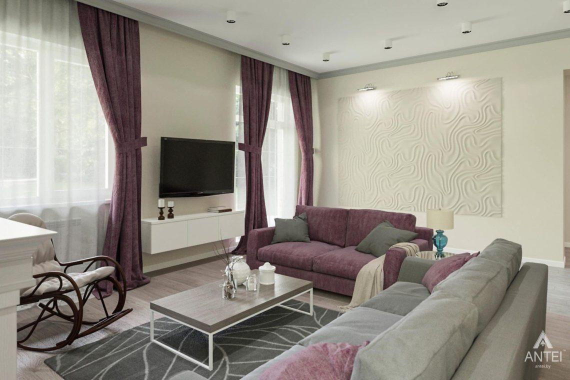 Дизайн интерьера загородного дома в Гомеле, п. Березки - гостиная фото №4