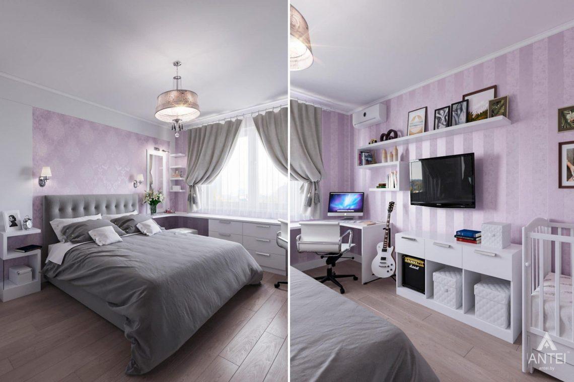 Дизайн интерьера квартиры в Гомеле, ул. Пенязькова, 37 - спальня фото №3