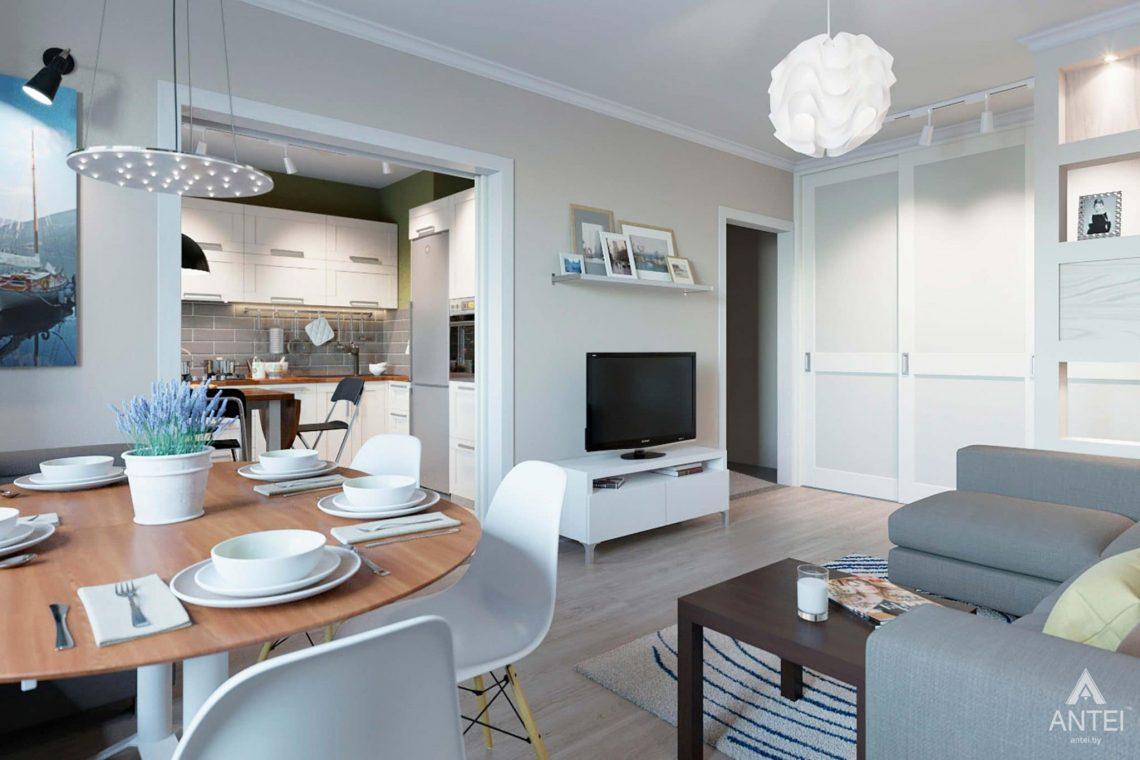 Дизайн интерьера квартиры в Гомеле, ул.Денисенко - гостиная фото №3