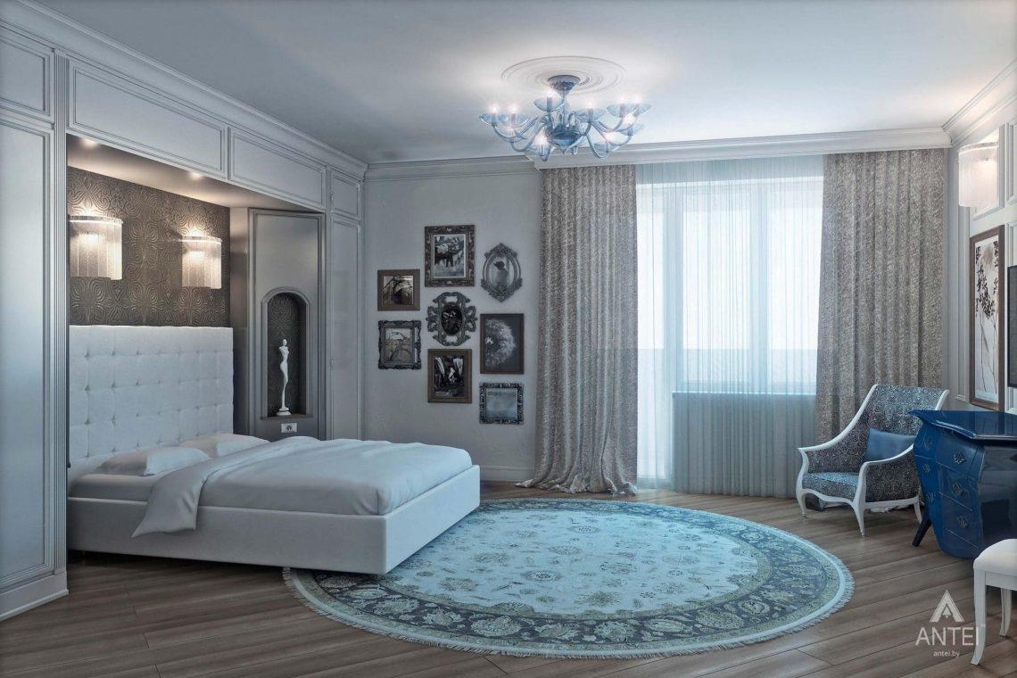 Дизайн интерьера пентхауса в Москве - спальня фото №1