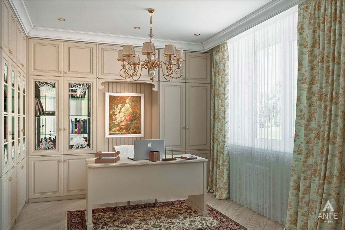 Дизайн интерьера таунхауса в России - кабинет фото №1