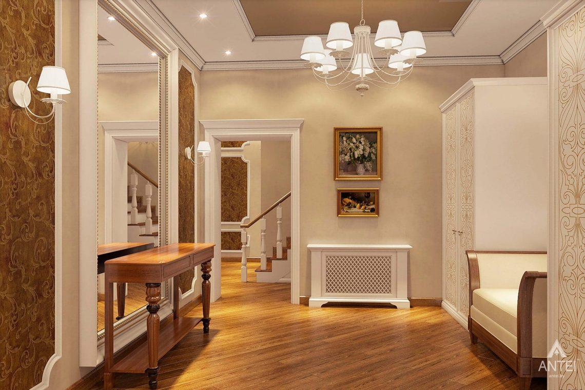 Дизайн интерьера таунхауса в России - прихожая фото №1
