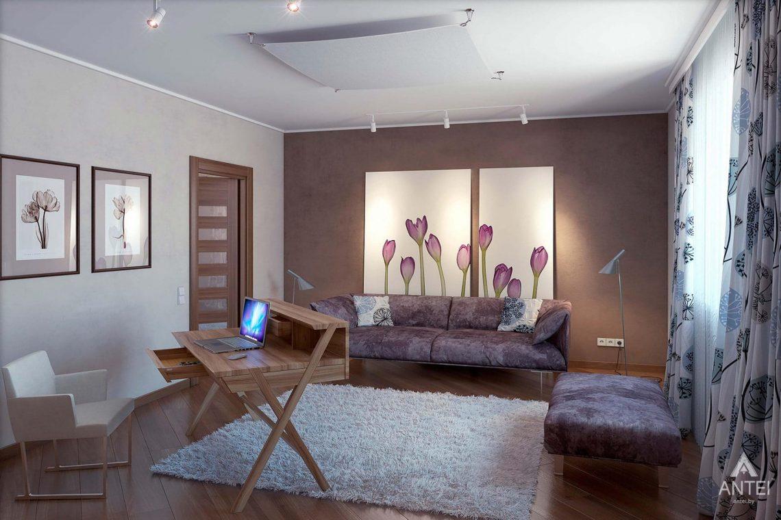 Дизайн интерьера загородного дома в Гомеле - кабинет фото №1