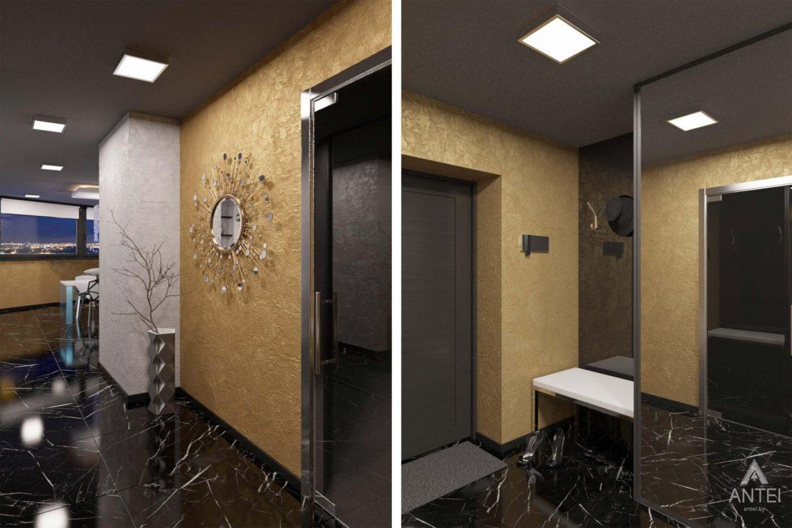 Дизайн интерьера квартиры-студии в Гомеле, ул. Кожара, 59а - прихожая фото №1