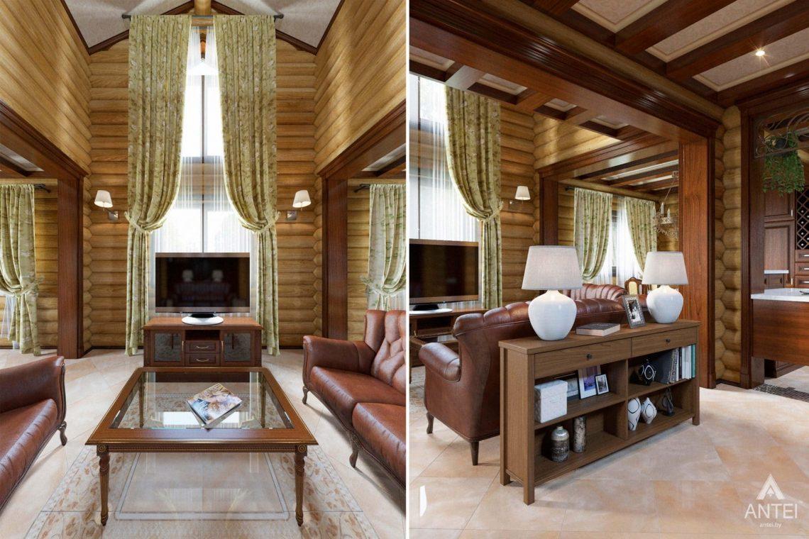 Дизайн интерьера загородного дома в Гомеле, р-не Романовичи - гостиная фото №2
