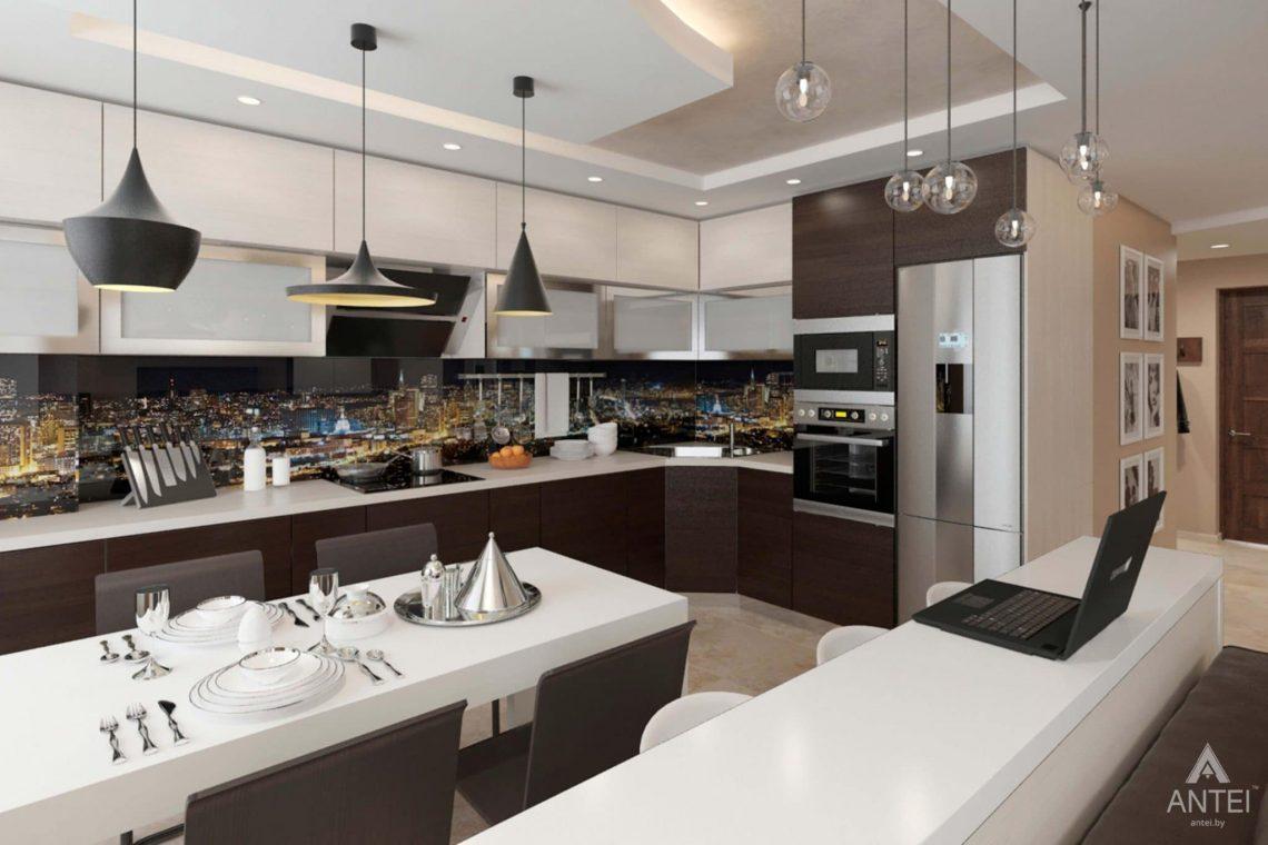Дизайн интерьера квартиры в г. Гомеле, ул. Кожара, 55 - кухня-гостиная фото №3