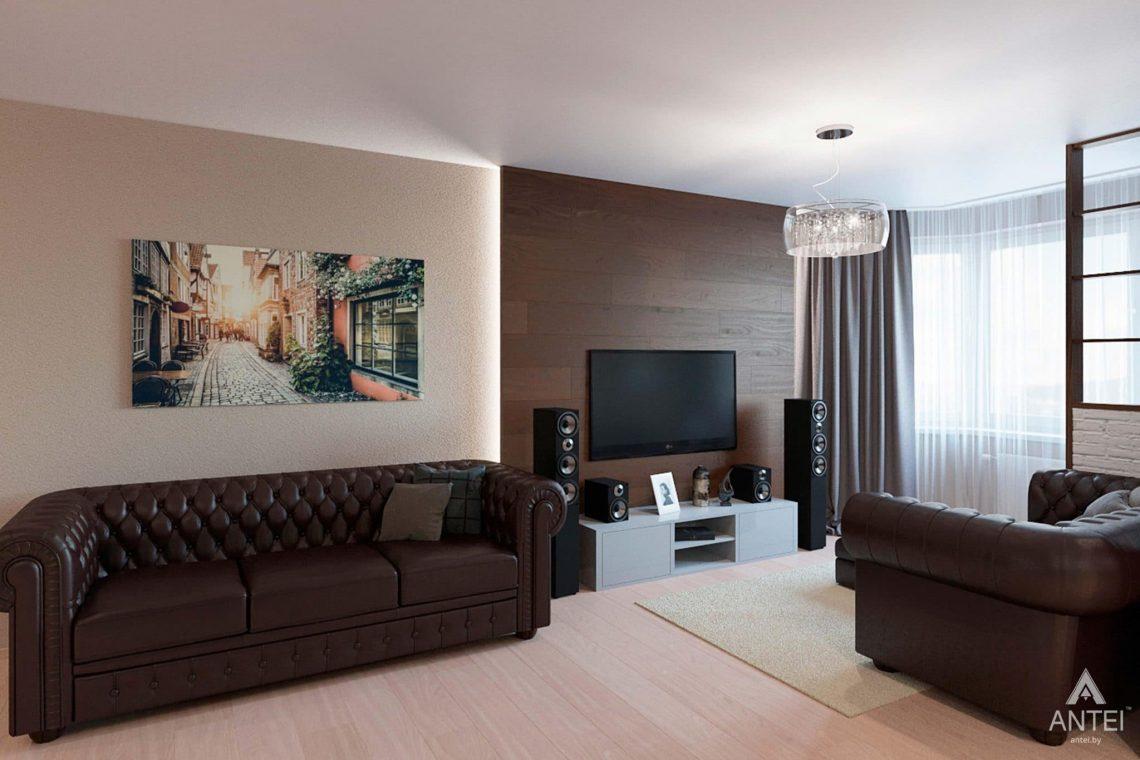 Дизайн интерьера квартиры в Гомеле, ул. Ландышева, 14 - кухня-гостиная фото №3