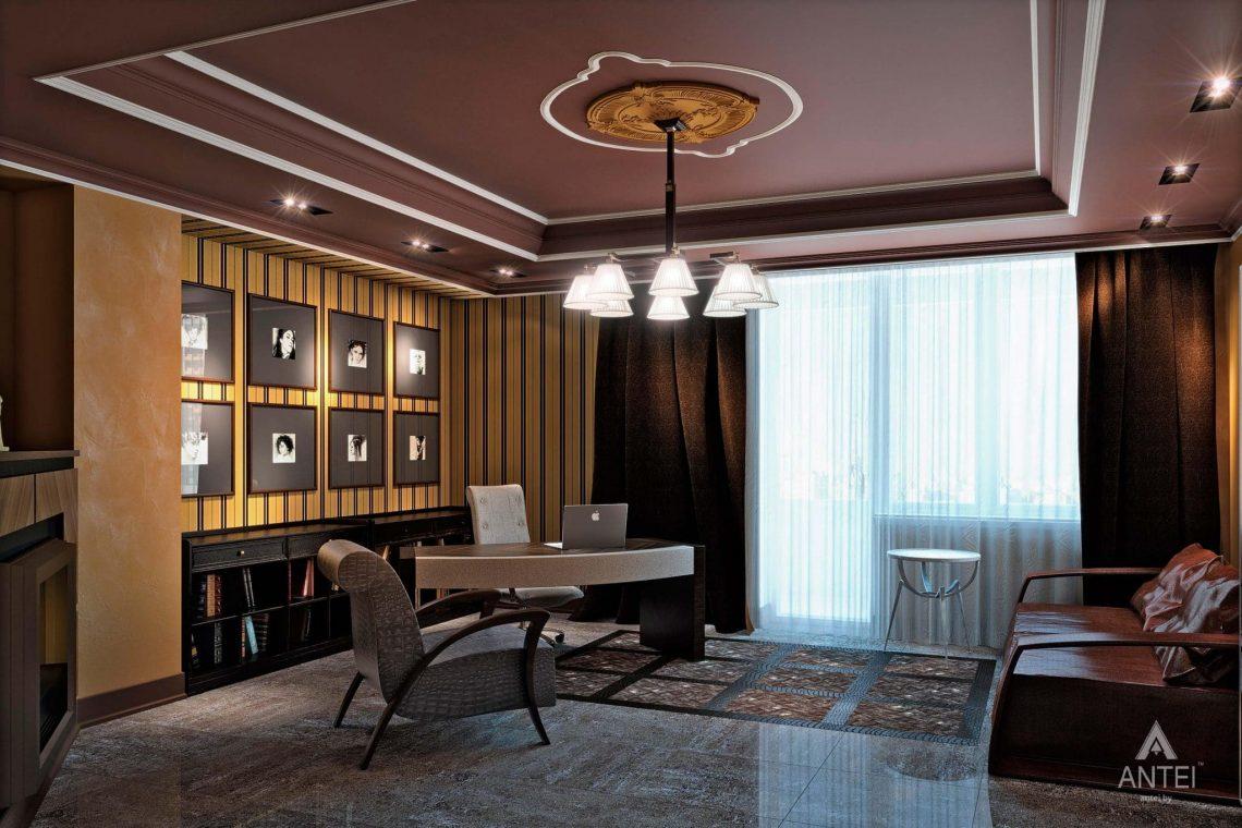 Дизайн интерьера пентхауса в Москве - кабинет фото №1