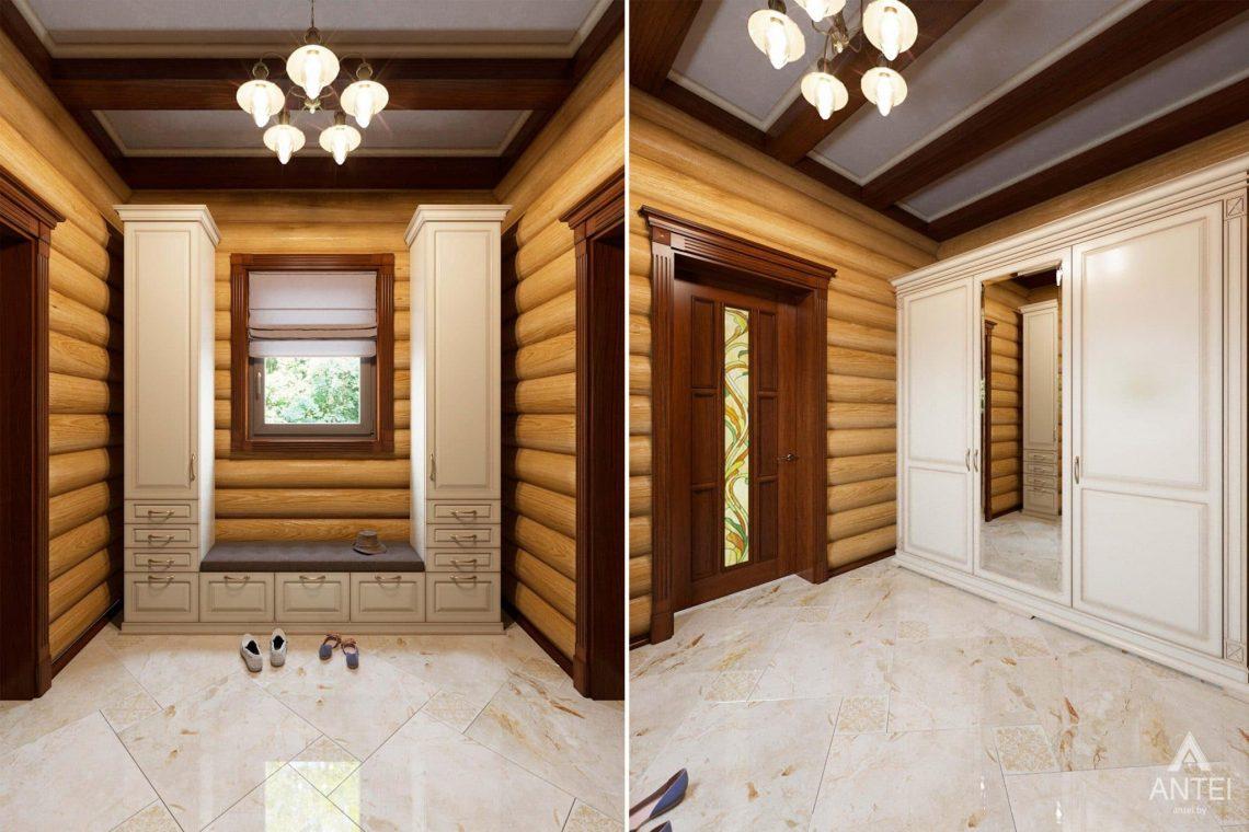 Дизайн интерьера загородного дома в Гомеле, р-не Романовичи - прихожая фото №1