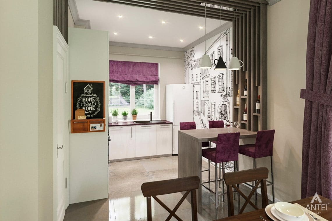 Дизайн интерьера загородного дома в Гомеле, п. Березки - кухня фото №1