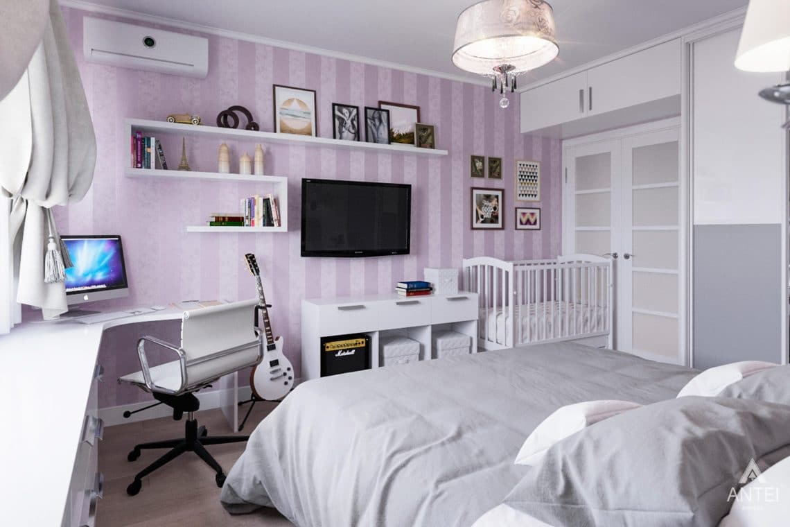 Дизайн интерьера квартиры в Гомеле, ул. Пенязькова, 37 - спальня фото №2