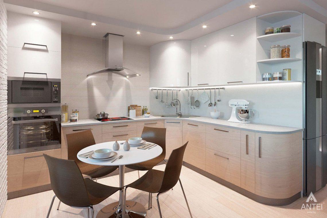 Дизайн интерьера квартиры в Гомеле, ул. Ландышева, 14 - кухня-гостиная фото №5