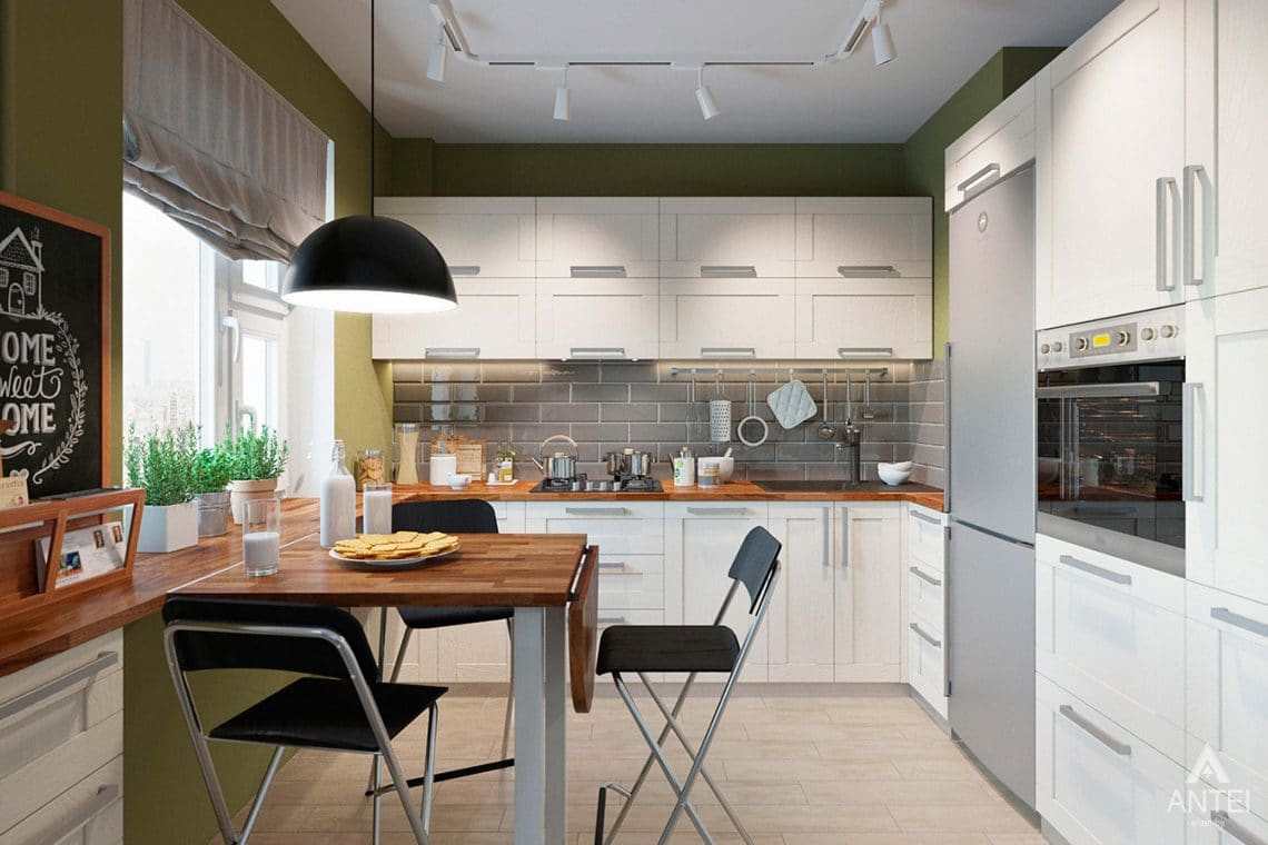 Дизайн интерьера квартиры в Гомеле, ул.Денисенко - кухня фото №2
