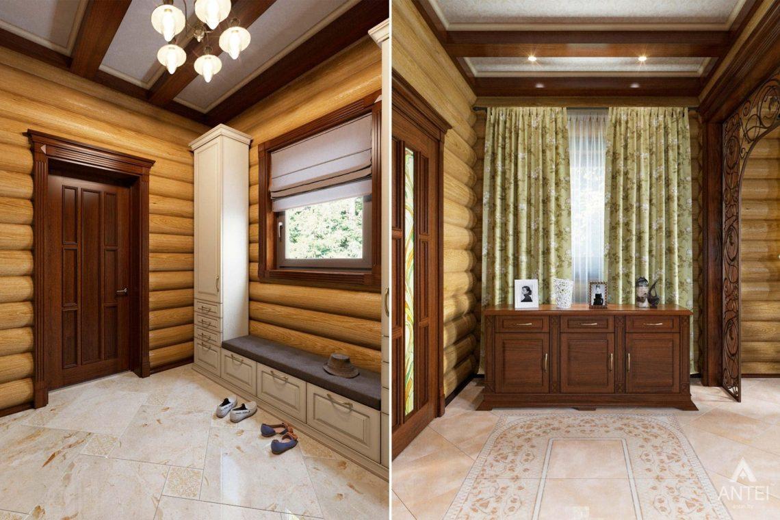 Дизайн интерьера загородного дома в Гомеле, р-не Романовичи - прихожая фото №3