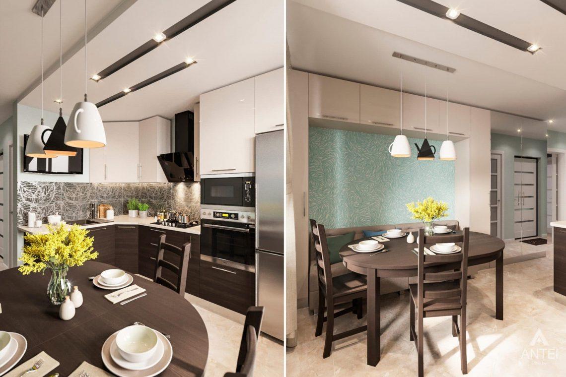 Дизайн интерьера квартиры в Гомеле, ул. Пенязькова, 37 - кухня фото №1