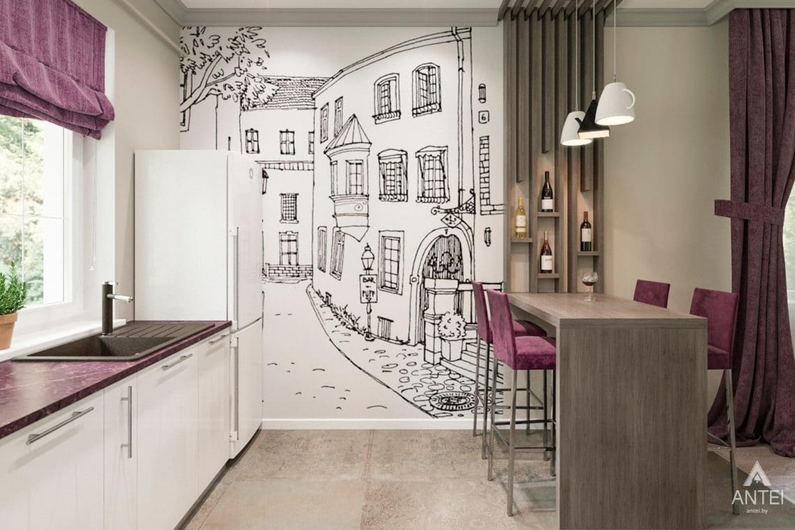 Дизайн интерьера загородного дома в Гомеле, п. Березки - кухня фото №3