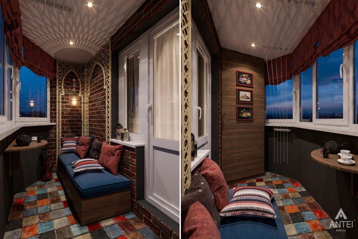 Дизайн интерьера квартиры в Гомеле, ул. Пенязькова, 37 - балкон фото №1