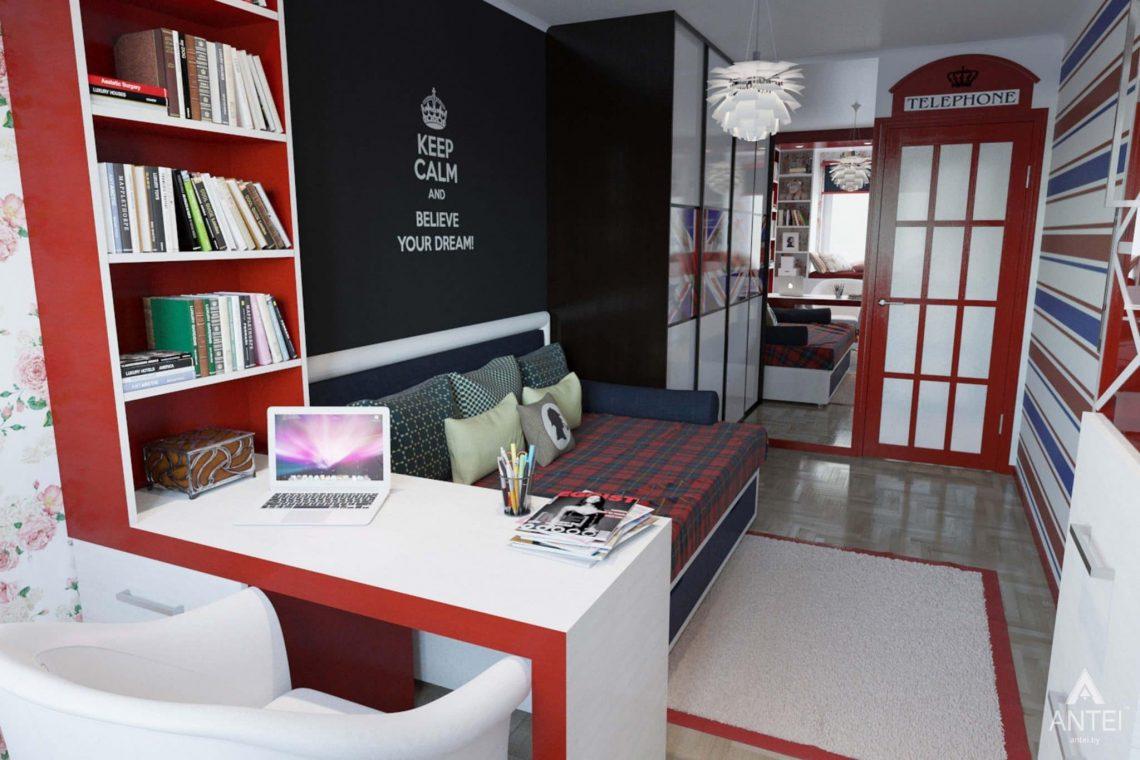 Дизайн интерьера квартиры в Гомеле, ул. Победы - кабинет фото №3
