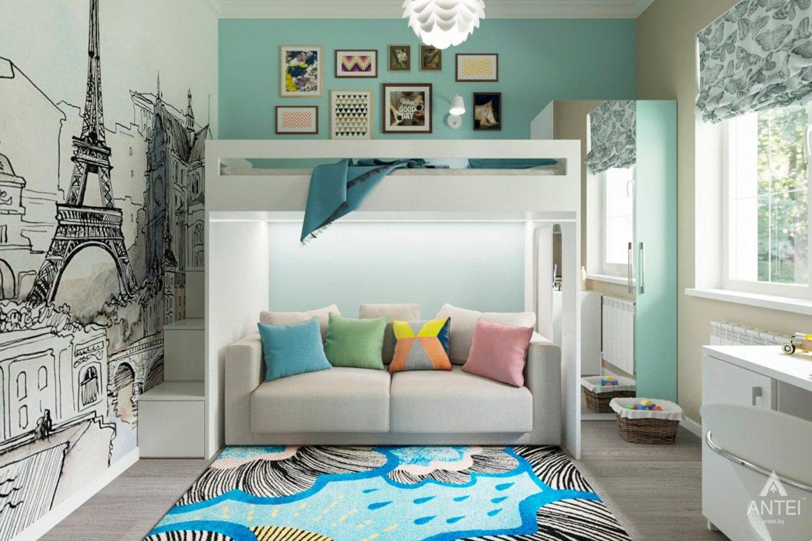 Дизайн интерьера загородного дома в Гомеле, п. Березки - детская комната фото №1