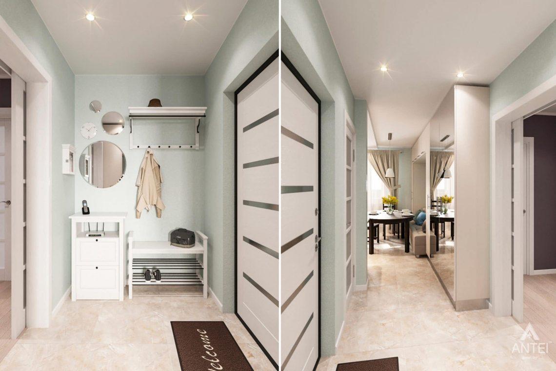 Дизайн интерьера квартиры в Гомеле, ул. Пенязькова, 37 - прихожая фото №1