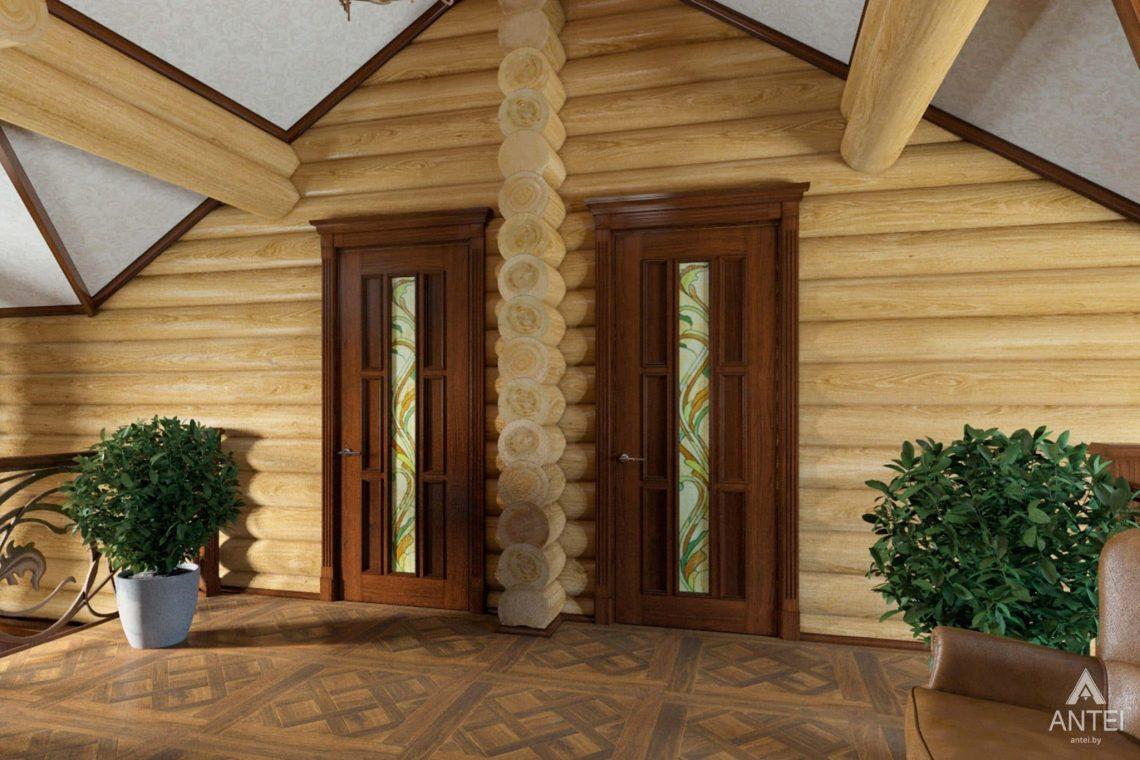 Дизайн интерьера загородного дома в Гомеле, р-не Романовичи - холл 2 этажа фото №2