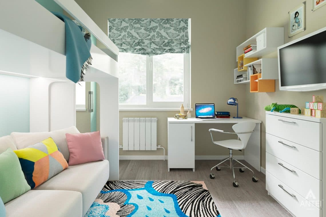 Дизайн интерьера загородного дома в Гомеле, п. Березки - детская комната фото №2