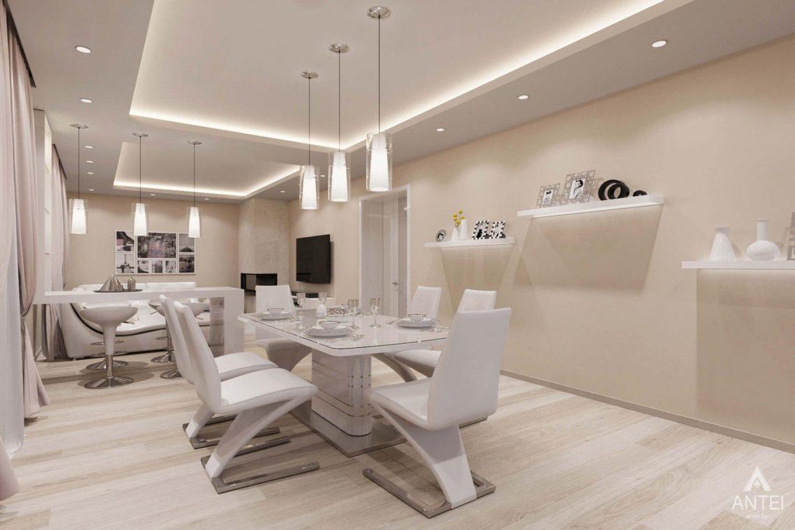 Дизайн интерьера загородного дома в п.Цегельня, Гомельский р-н - кухня-гостиная фото №1