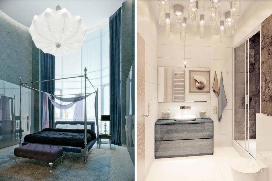 Дизайн интерьера пентхауса в Москве - спальня фото №5