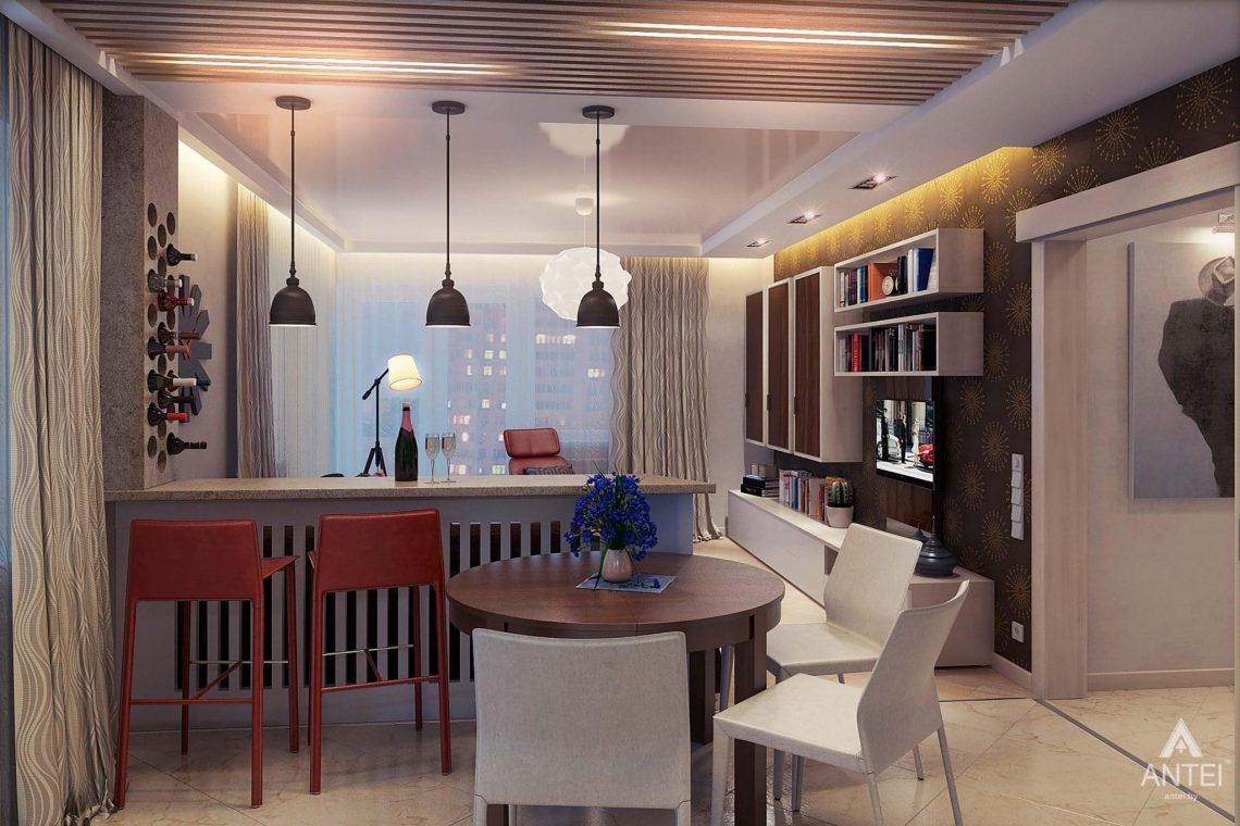 Дизайн интерьера квартиры в Гомеле - кухня-гостиная фото №3