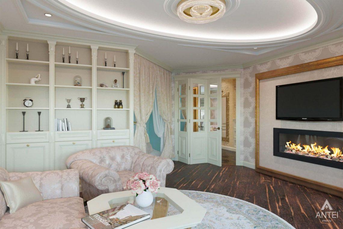 Дизайн интерьера квартиры в Гомеле, ул. Кожара, 59а - гостиная фото №3