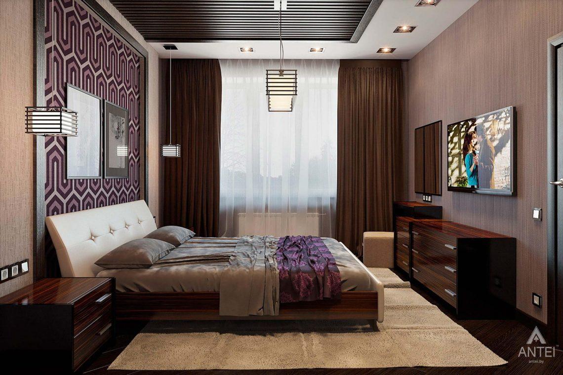 Дизайн интерьера загородного дома в Сургуте, Россия - спальня фото №1