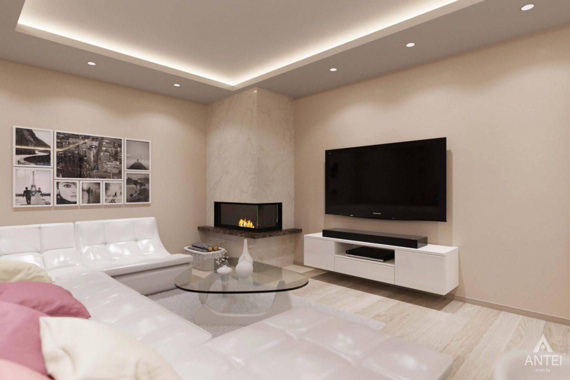 Дизайн интерьера загородного дома в п.Цегельня, Гомельский р-н - кухня-гостиная фото №4