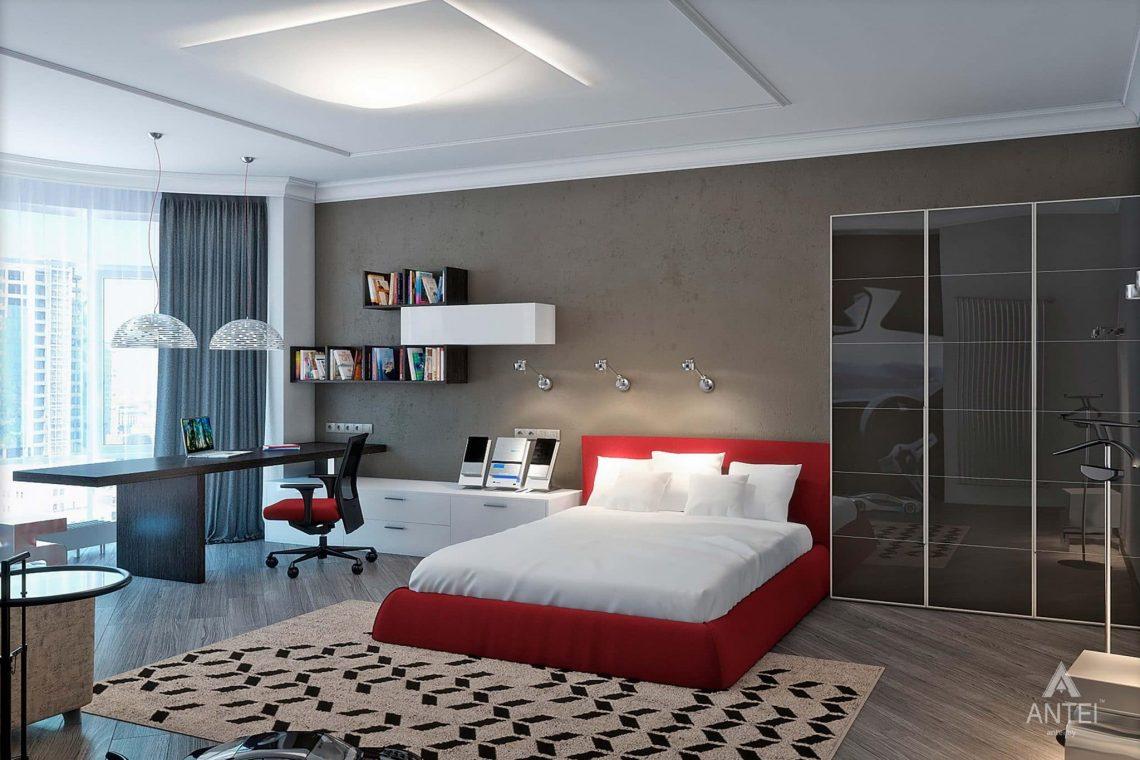 Дизайн интерьера пентхауса в Москве - спальня фото №3