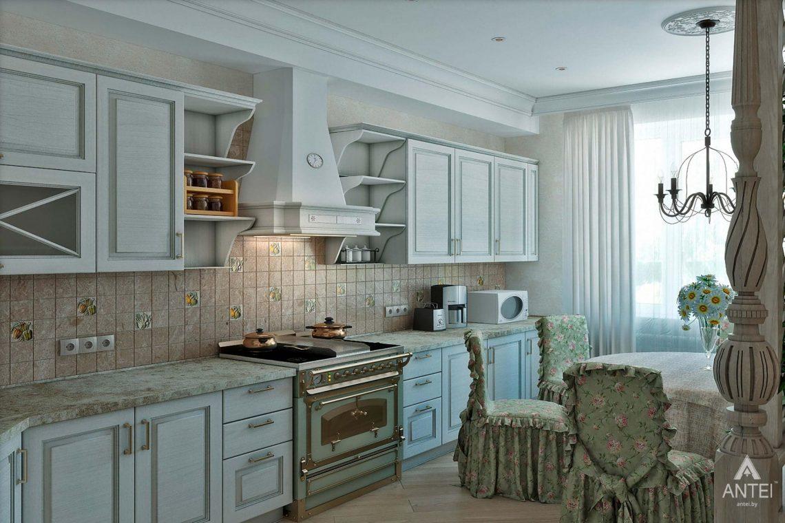 Дизайн интерьера таунхауса в России - кухня фото №1