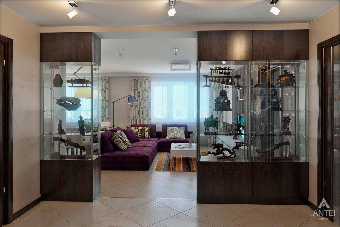Дизайн интерьера квартиры в Гомеле - гостиная-кухня фото №1