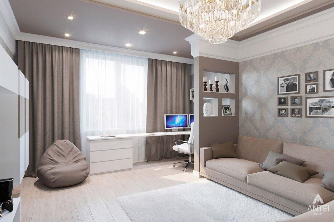 Дизайн интерьера квартиры в Минске, ул.Короля - гостиная фото №1