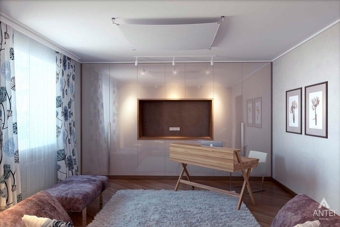 Дизайн интерьера загородного дома в Гомеле - кабинет фото №2