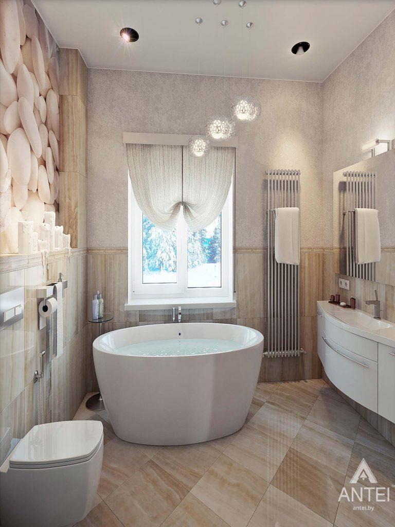 Дизайн интерьера загородного дома в Гомеле - санузел фото №2