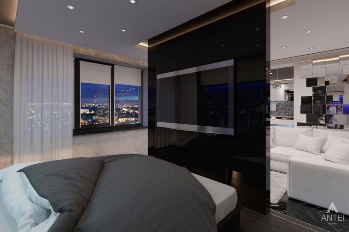 Дизайн интерьера квартиры-студии в Гомеле, ул. Кожара, 59а - спальня фото №2