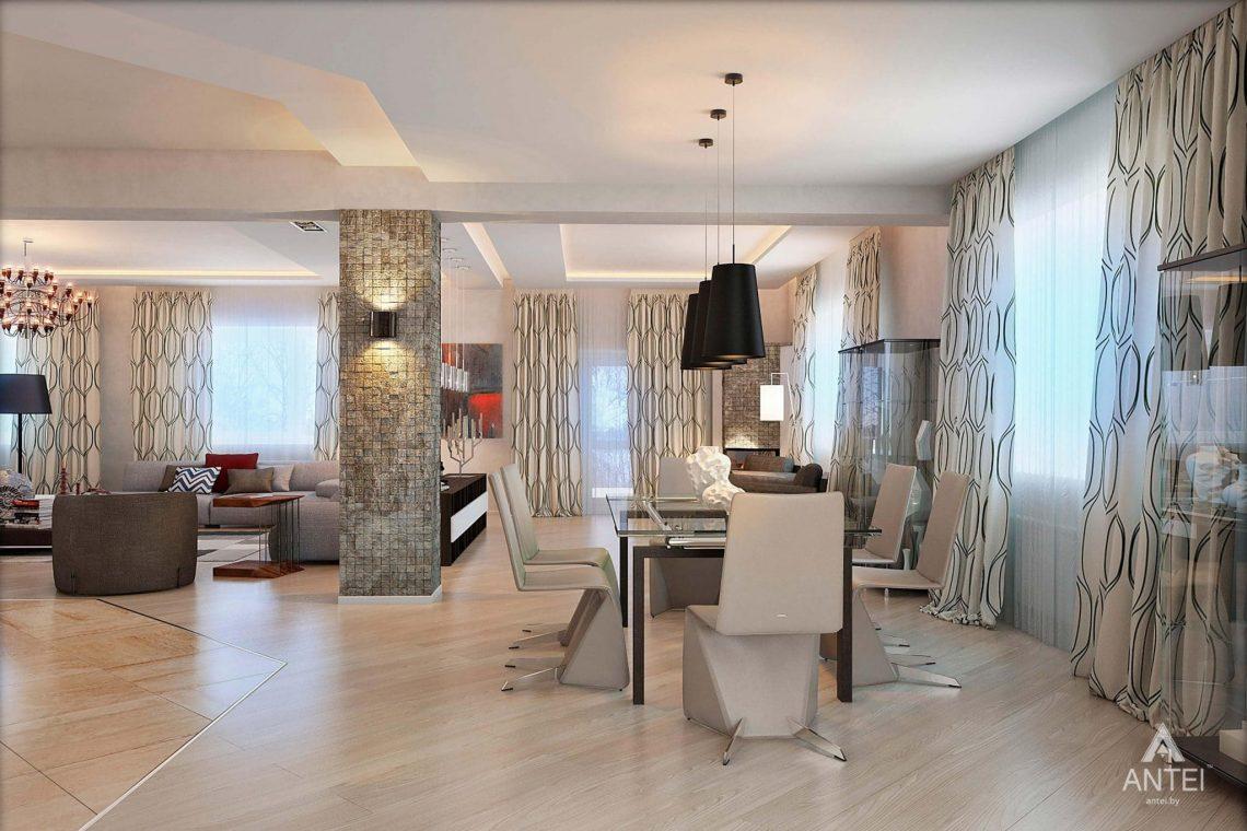 Дизайн интерьера загородного дома в Гомеле - гостиная фото №4