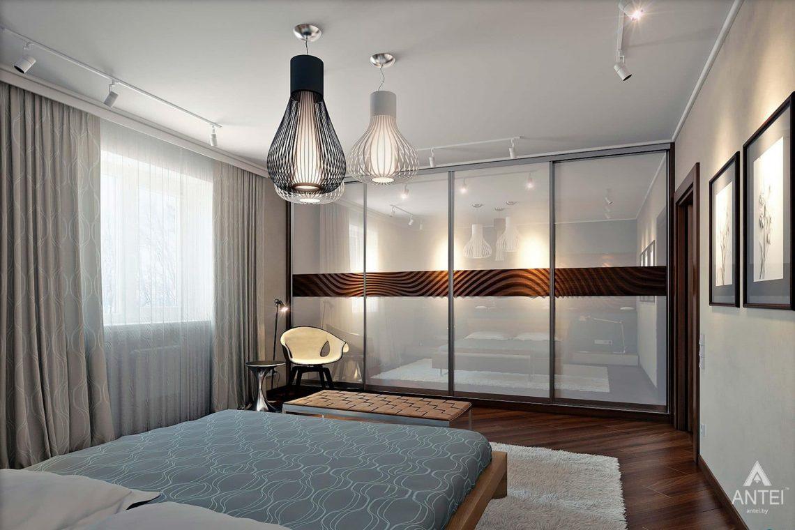 Дизайн интерьера загородного дома в Гомеле - спальня фото №2