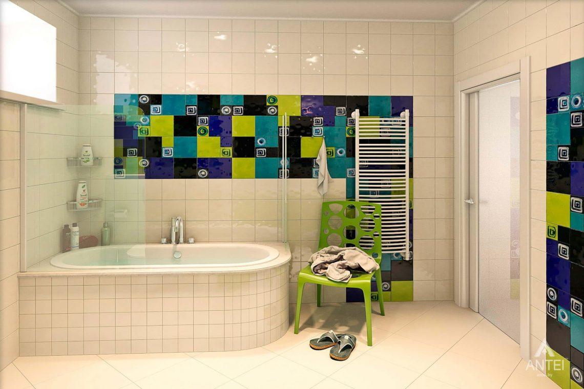 Дизайн интерьера загородного дома в Гомеле - ванная фото №1