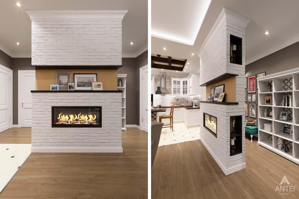 Дизайн интерьера трехкомнатной квартиры в Гомеле, ул.Тельмана - кухня-гостиная фото №4