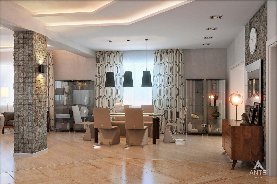 Дизайн интерьера загородного дома в Гомеле - гостиная фото №5
