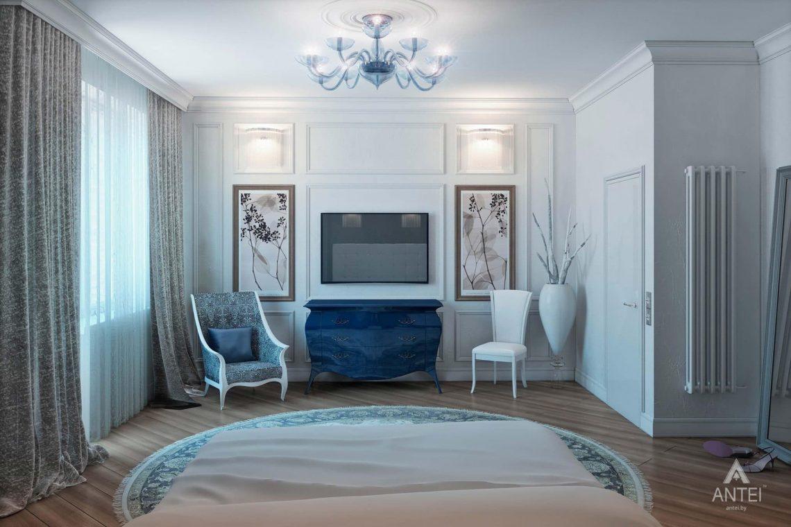 Дизайн интерьера пентхауса в Москве - спальня фото №4