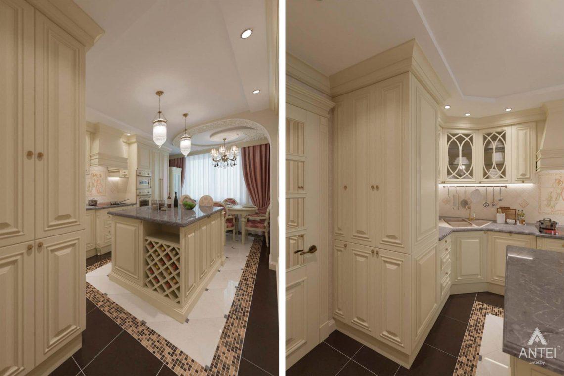 Дизайн интерьера квартиры в Гомеле, ул. Кожара, 59а - кухня фото №4
