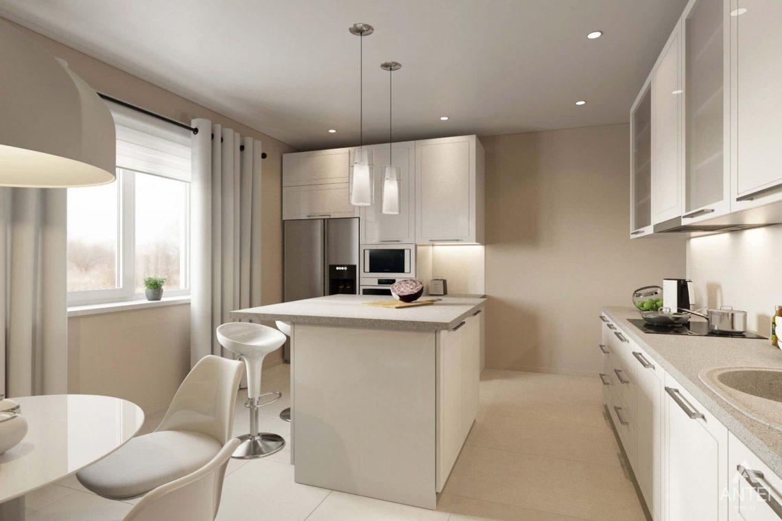 Дизайн интерьера загородного дома в п.Цегельня, Гомельский р-н - кухня-гостиная фото №5