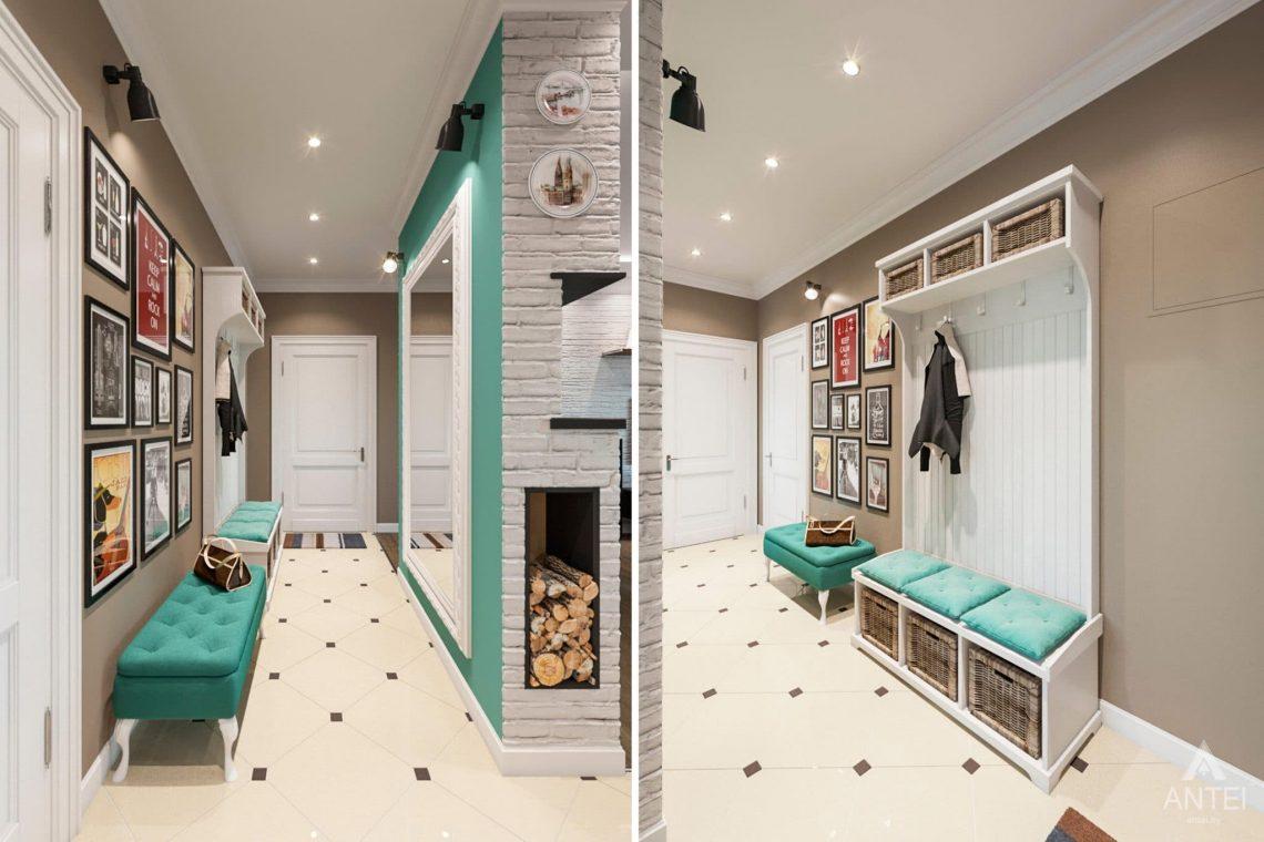 Дизайн интерьера трехкомнатной квартиры в Гомеле, ул.Тельмана - прихожая фото №1